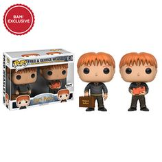 Harry Potter: Fred and George Weasley Pop figure set by Funko, BAM (Books A Million) exclusive