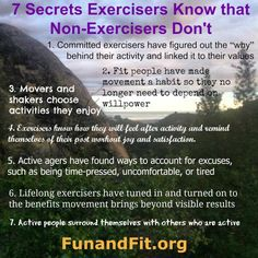 Ready for a handy checklist of 7 Secrets Exercisers Use to Motivate Themselves? Portal, Freak Out, Willpower, Motivate Yourself, The Secret, Exercise, Activities, Motivation, Health