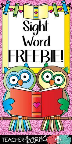 Classroom Freebies: Sight Word FREEBIE from Teacher KARMA