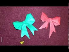 Paper Bow - YouTube