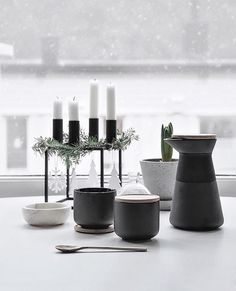 Kubus 4 candle holder by Mogens Lassen from By Lassen | The peacefulness of Winter captured by @onlydecolove