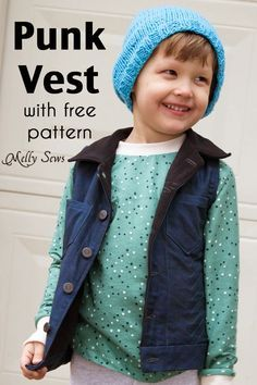Sewing pattern for sleeveless coats