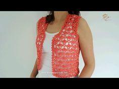 Regata de Crochê com Decote em V - Aprendendo Crochê - YouTube