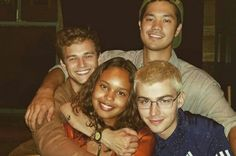 Justin, Jessica, Alex, and Zach from 13 Reasons Why