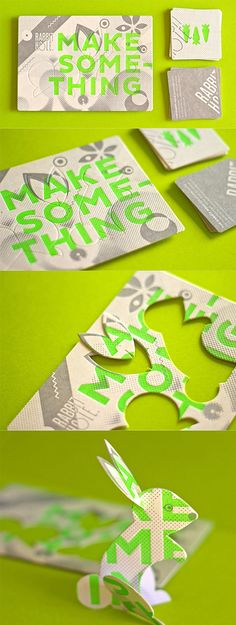 Clever Die Cut Business Card | Business Cards | The Design Inspiration