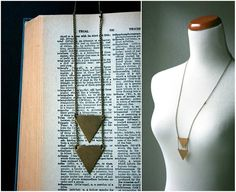 triangles jewelry the double arrow necklace vintage by baltica, $33.00