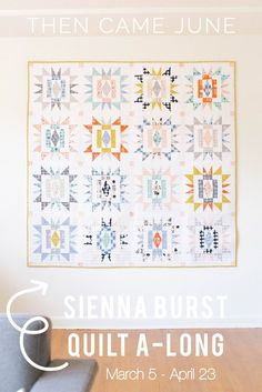 COMING SOON: Sienna Burst Quilt Along – Then Came June, Modern Quilt, Quilt Along, FQ Quilts