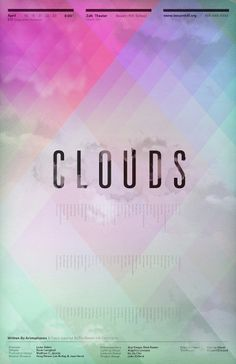 Clifford Design / Illustration / Photography - Clouds Poster via jjcliff