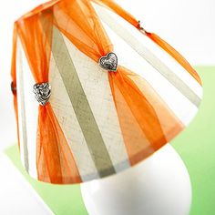 Ribbon and Shank Button Lampshade