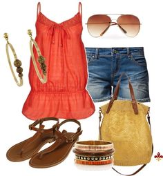 """""""Coral Relaxed"""" by hatsgaloore on Polyvore"""