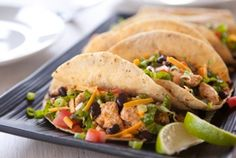 Tofu and black bean tacos