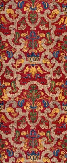 Mariano Fortuny y Madrazo, cotton printed textile, 20th century.