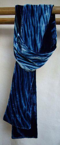 Wind Through Water, velvet scarf by Clarissa Cochran