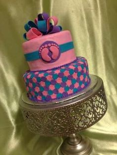 Baby Girl Shower Cake----if it's a girl! Baby Cakes, Baby Shower Cakes, Cupcake Cakes, Baby Shower Announcement, Special Quotes, Occasion Cakes, Baby Time, Cute Cakes, Girl Shower