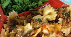 1 1/2 lbs. lean ground beef   1 onion, chopped   1 clove garlic, minced   1 (15 oz.) can tomato sauce   1 (15 o) can stewed tom...