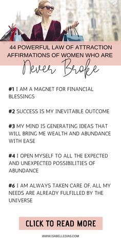 Daily Affirmations for Wealth, Money and Success