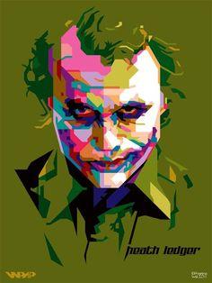 [Megapost] Fan Art - Wheda's Pop Art Portrait (WPAP) Art Pop, Joker Drawings, Polygon Art, Cubism Art, Pop Art Posters, Pop Art Portraits, Joker Wallpapers, Animal Paintings, Face Art