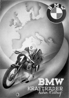 Vintage Illustrated BMW ad