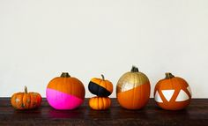 Round up of the cutest pumpkin DIY's.  Paint dipped pumpkins by Ciera Design.