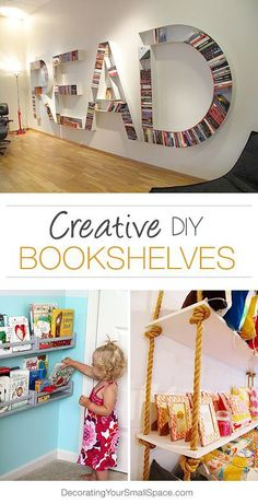 Diy Crafts Ideas : Creative DIY Bookshelves  Great Ideas & Tutorials!
