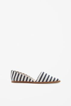 cos striped slip,on shoes