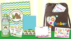 Useful and adorable personalized items for sleep-away and day camp. EXCLUSIVES of Script and Scribble