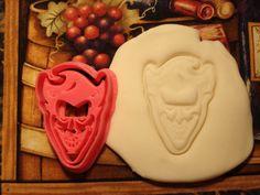 Batman Inspired The Joker Cookie Cutter Stamp Set Bat man Heath Ledger Pink BPA FREE
