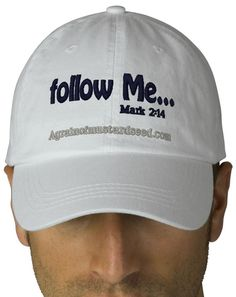 follow Me Agrainofmustardseed.com embroidered caps http://www.zazzle.com/agrainofmustardseed/gifts?useTermPositions=False&cg=196902059449174412