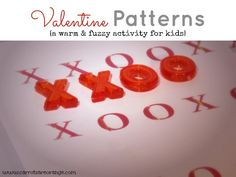 Valentine Pattern Activity - Early Math Activity for Preschoolers