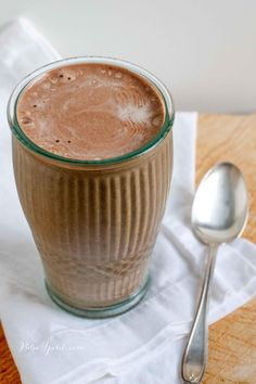 Paleo Banana Mocha Shake combines the flavors of coffee and chocolate with the richness of frozen banana for a creamy snack or part of breakfast.