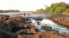 Girls Defy Death at Devil's Pool, Victoria Falls Victoria Falls, Natural Wonders, Devil, Africa, Swimming, World, Videos, Water, Outdoor