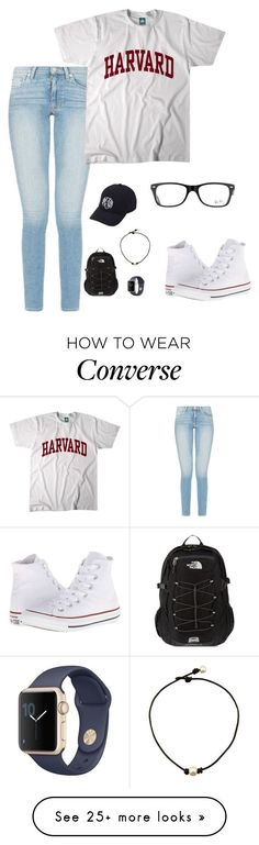 """QOTD: favorite color?"" by amararangwala on Polyvore featuring Converse, Ray-Ban, Aggie Gray and The North Face"