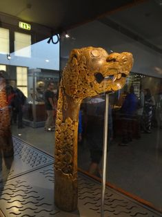 Viking carved ship's head. Oseberg, 9th century AD - Museum of artifacts