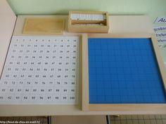 Dans ma classe : materiel Montessori en maths - tableau de 100   Bout de chou en éveil