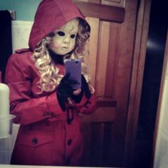 """This has to be the best Pretty Little Liars costume of """"A"""" that I have ever seen.  And I just saw this mask recently, too!!!"""