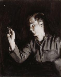Michaël Borremans Fisherman's Luck 2003 50 x 40 cm oil on canvas
