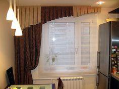 Sötétítő függöny - konyhai ablakra, kis optikai csalással : igazán mutatós lett !