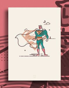 Colour & Lines Superman Print: Superman A3 print from the Colour & Lines collection, printed on uncoated paper with no border. Make a great gift for the Superhero fan.