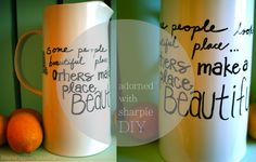 pearls. poppies. pinkies up.: Sharpie patterns and new summertime mugs.
