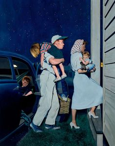 """George E. Hughes, """"Late Night Out"""" c.1951 – The Lucas Museum of Narrative Art"""