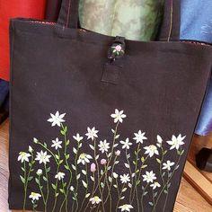 #자수가방 #에코백 #쇼퍼백 #프랑스자수 #들꽃자수 #야생화자수 #embroidery