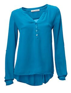 Koop Ashley Brooke - Chiffonblouse turquoise in de Heine online-shop