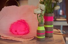 Rope Vases - super chic and easy to do! http://www.ivillage.com/diy-rope-projects-your-home/7-a-549181?cid=tw|10-10-13
