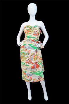 1940s Hawaiian dress