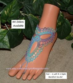 42822970f6113 Cute beach wedding anklet shoes or bridal leg toe anklets that are perfect  women accessory.