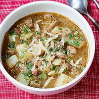 Green chilli and pork soup.