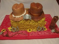 Western Theme Cake for Bridal Shower