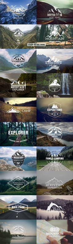 UPDATE 25 Adventure Badges & Logos ⛺