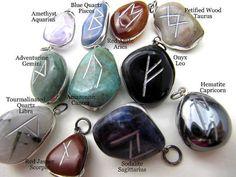 Runes Astrological  Pendants Sterling by FeelingstoneGiftsLLC, $6.50