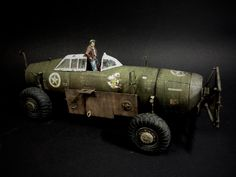 "P-47 ""Savage Republic"" Land Speeder 1/32 Kit Bash / Scratch Build What if...?! WWIII Thunderbolt/Razorback/Truck-Conversion by ANDIGO."